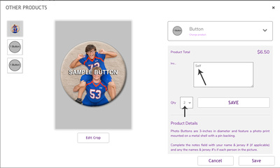 Sample Button Purchase
